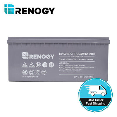 Renogy Intense D AGM Battery 12 Volt 200Ah Battery Solar Determination Storage