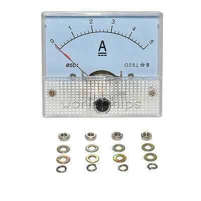 Analog Amp Current Panel Meter Dc 05a Ammeter 85c1 Brand New