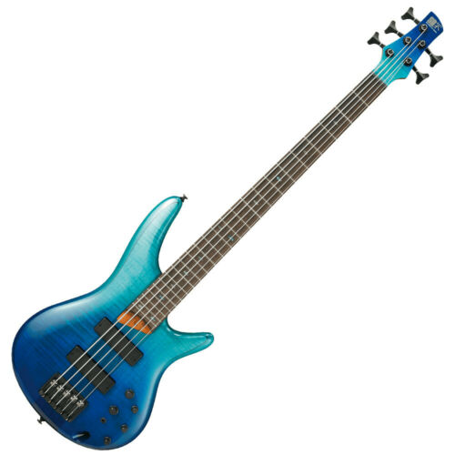 Ibanez SR875-BRG Blue Reef Gradation 5 String Electric Bass Guitar