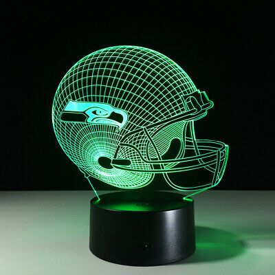Seahawks Nfl (Seattle Seahawks LED Light Lamp Collectible NFL Russell Wilson Home Decor)
