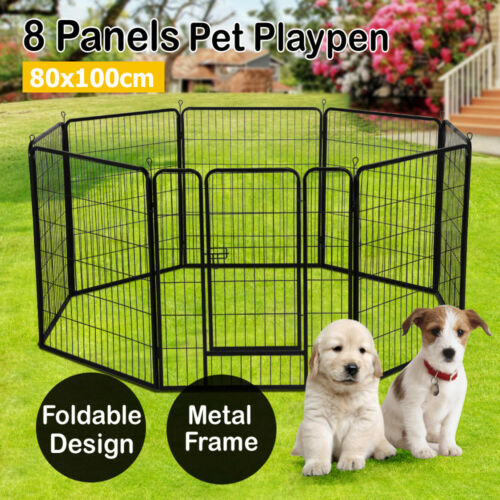"24"" 32""40"" Tall Dog Playpen Crate Fence Pet Play Pen Exercis"