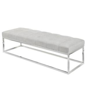 Modern Elizabeth Pearl Fabric Bench - XC15 100331 in Toronto Furniture Sale (BD-1462)