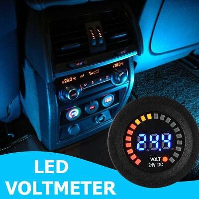 Dc 12v 24v Digital Display Led Voltmeter Voltage Gauge Tester For Marine Rv Boat