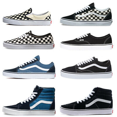 NewVans Old Skool Classic Authentic Checkerboard Canvas Skate shoes Unisex Size