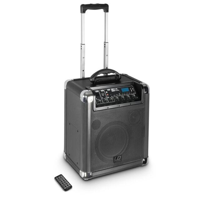 LD Systems - Roadjack 10 Akku Lautsprecher mit USB Bluetooth MP3 SD IR Mixer