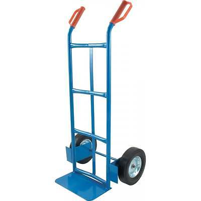 Curved Back Steel Hand Sack Truck for cylindrical items barrels rolls HHS057
