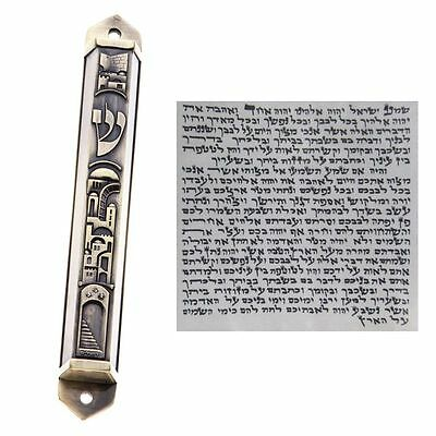 Mezuzah With Kosher Scroll Mezuza Case Jewish Hebrew Judaica Holy Israeli