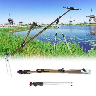 Einstellbar Angelrutenhalter Brandung Dreibein Rutenständer Karpfen Rod Pod O9M3