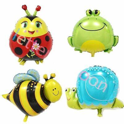 Bee Balloons (Bugs foil balloons snail butterfly bee frog ladybird mini)