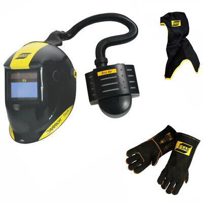 Esab Warrior Tech Welding Helmet With Eco Air Papr Unit Free Hood Gloves