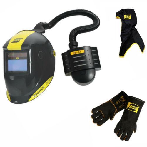 ESAB Warrior Tech Welding Helmet with Eco Air PAPR Unit + FREE Hood & Gloves