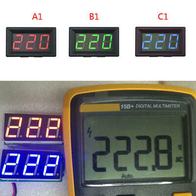 Ac 0-600v Led 3-digital Mini Panel Voltage Display Meter Voltmeter Test