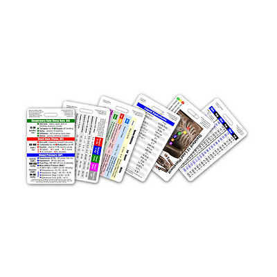 Mini Cna Ma Na Vertical Badge Card Set - 6 Cards - Pocket Guide Id Sheet Nursing