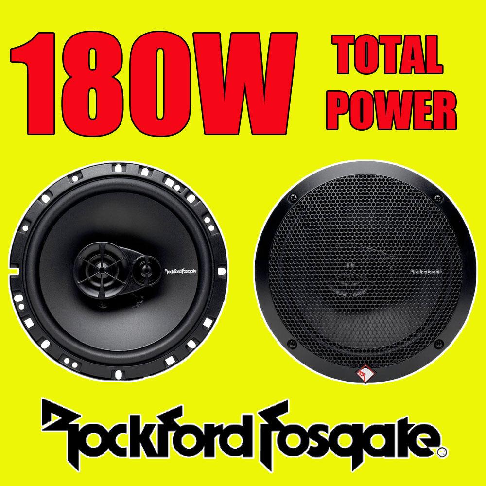 ROCKFORD FOSGATE 3WAY 6.5 INCH 16.5cm CAR DOOR/SHELF COAXIAL SPEAKERS 180W TOTAL