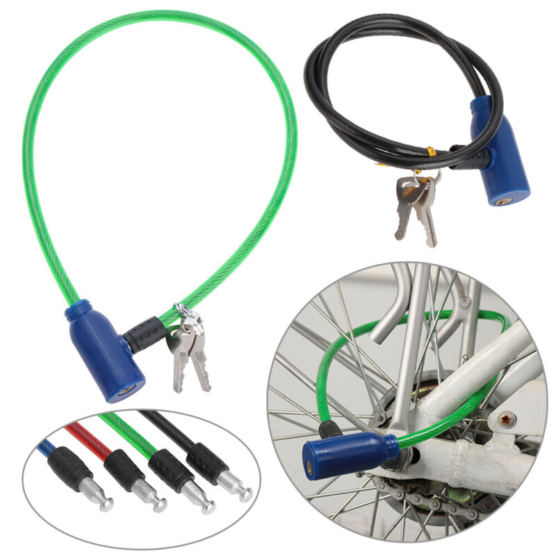 64cm Bike Bicycle Cycling Light Weight Safety Anti theft Locks with 2 Keys
