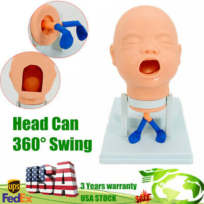 Infant Intubation Manikin Airway Management Trainer Cannula Practice Baby Model