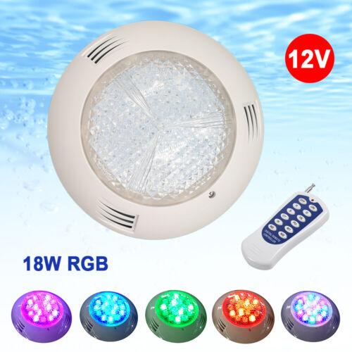 18w ac12v rgb swimming led pool lights