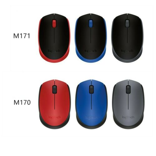 Logitech Wireless Optical Mouse M170  many colors to choose