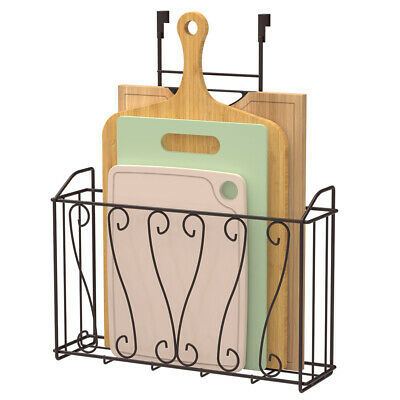 Over The Door Basket Holder Organizer Kitchen Storage Cabinet Organizer Rack