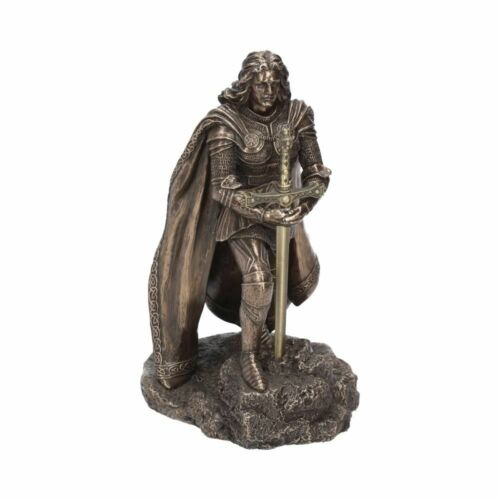 NEW+Sword+in+the+Stone+Figurine+Statue+with+Letter+Opener+Nemesis+B2535+20cm