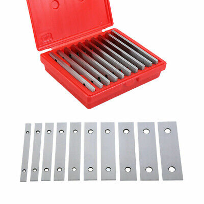 10 Pairs Machinists Thin Parallel Bar Set 18inch X 6inch 0.0005 Flat Vise Horn