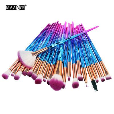 20PC Pro Mermaid Glitter Makeup Brushes Set Powder Foundation Cosmetic Brush - Cheap Make Up Kit