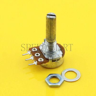 B100k Ohm Linear Taper Rotary Potentiometer Switch Pot 25mm Shaft 3 Pins