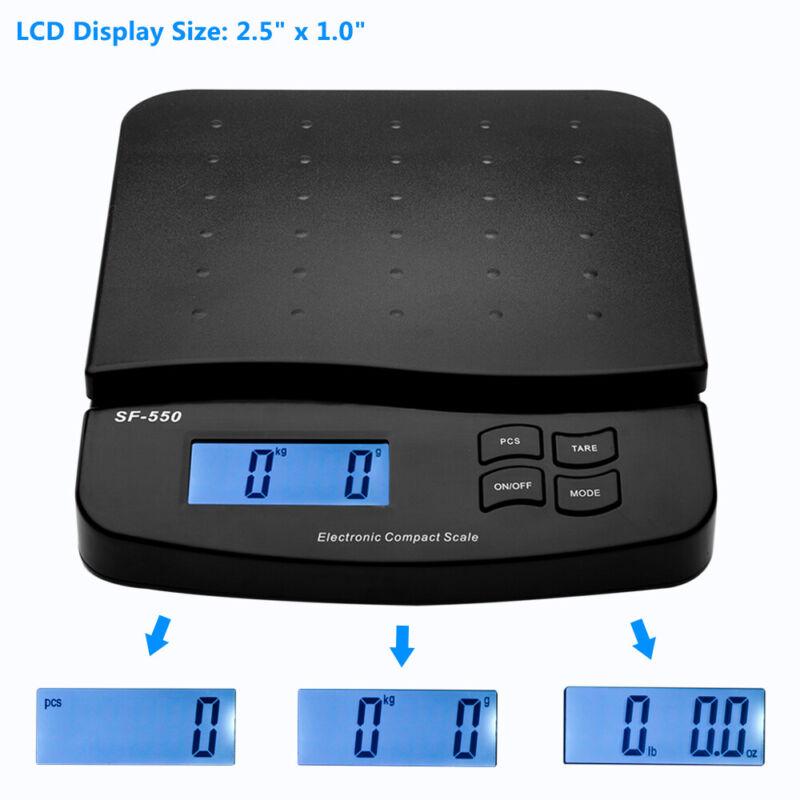 66lbs 0.1oz Digital Postal Shipping Scale SF-550 LCD Display Desktop Scale Black