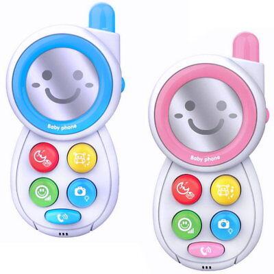 Baby Spielzeugtelefon Kindertelefon Spieltelefon mit Geräuschen Lichteffekte Neu
