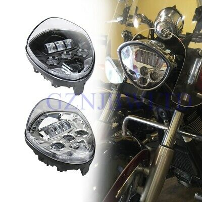 MOTORCYCLE BLACK LED HEADLIGHT HI LO BEAM FOR CROSS COUNTRY MAGNUM KIN