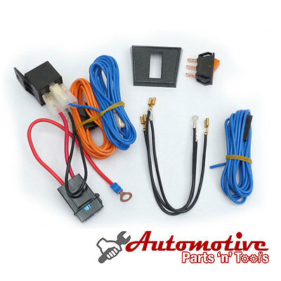 12v Pre-Wired Fast Fit Driving/Fog Lamps Spot Lights Wiring Loom Kit with Relay