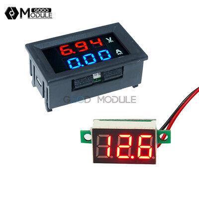 Dc100v 10a Bluered Led Voltmeter Ammeter Amp Dual Digital Red Led Voltage Meter