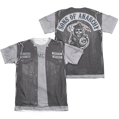 Sons Of Anarchy Soa Unholy Costume 2 Sided Sublimation Poly Blend Shirt S 3Xl