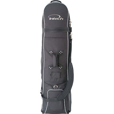 Golf Clubs Travel Bag Case Cover Wheels Soft Carrier Rolling Wheeled Hard