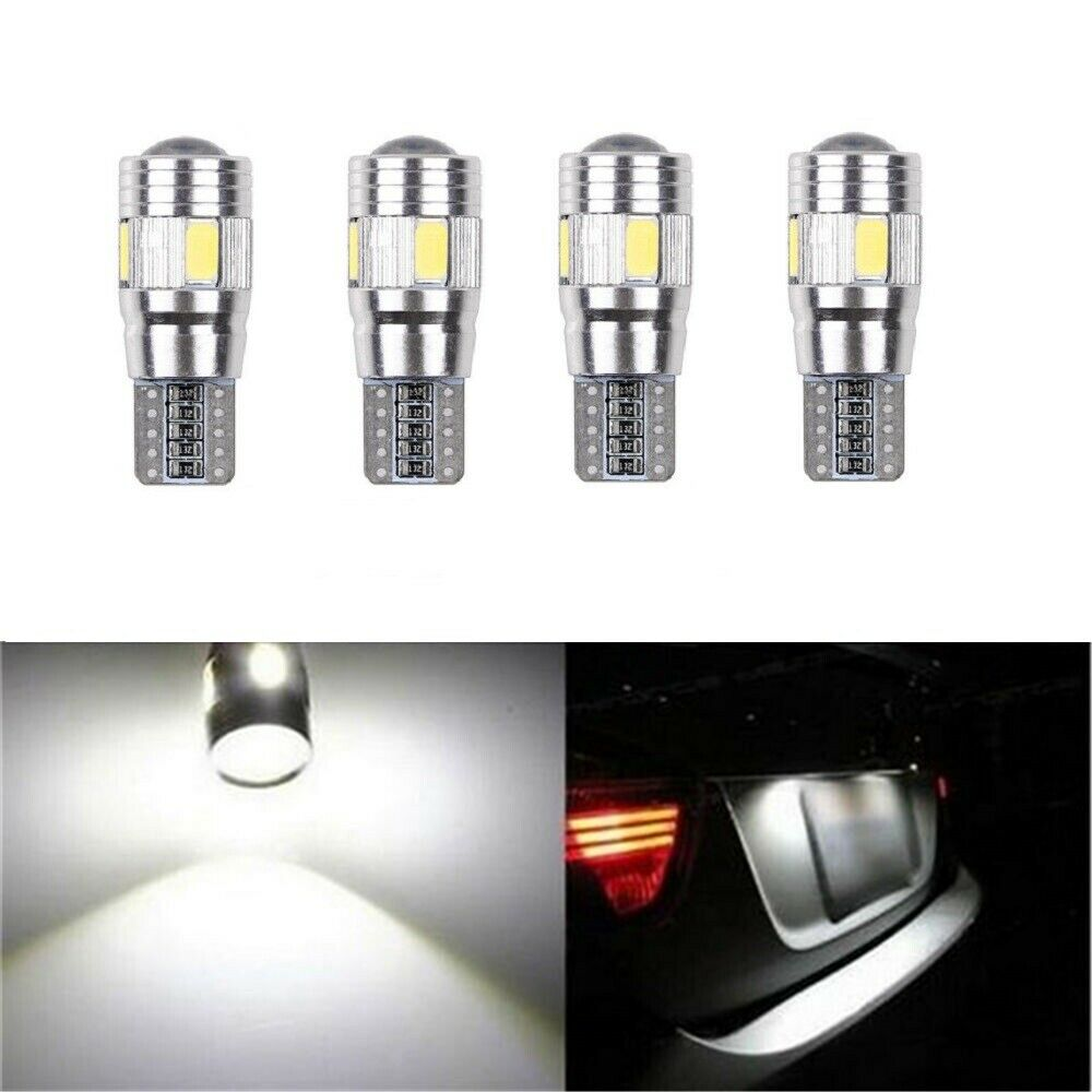 Car Parts - 4x T10 501 W5W CAR SIDE LIGHT BULBS ERROR FREE CANBUS SMD LED XENON HID WHITE UK