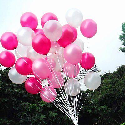 Light Pink Balloons (100 Count Pearl Latex Balloons White Light Pink Dark Pink Wedding Birthday)