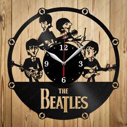 Vinyl Clock Beatles Handmade Original Gift Home Art Decor Vinyl Wall Clock