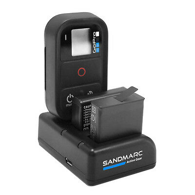 SANDMARC Procharge: Triple Charger for GoPro Hero 7, 6, 5, 4 & Smart Remote