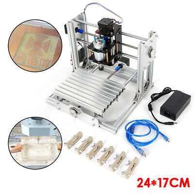 Carving Machine Engraving Mini Diy 2417cm Desktop Wood Metal Milling Machine Us