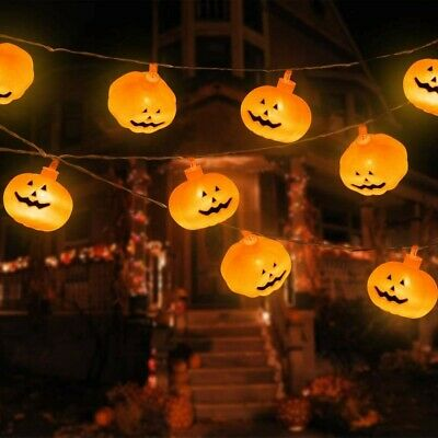 SIEBIRD Halloween String Lights, 9.8ft 20 LEDs Battery Operated Pumpkin String L