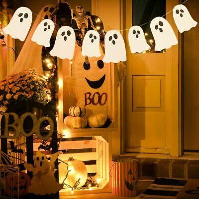 Ghost Halloween Paper Garland Banner Halloween Party Decoration Festive Supplies