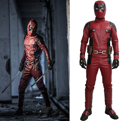 Deadpool Costume Movie Cosplay Outfit For Adult Halloween Costume with Props