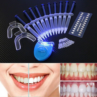 45f4de1454d Pro Teeth Tooth Whitening Whitener LED White Light Oral Gel Dental  Bleaching Kit