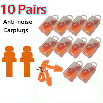 10pairs Ear Plugs Orange Silicone Ear Plugs 33db Anti Noise Hearing Protection