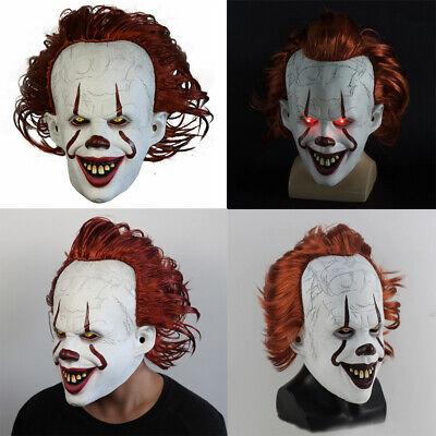LED Cosplay Kostüm Stephen Kings Es Maske Pennywise Horror Clown Für Halloween
