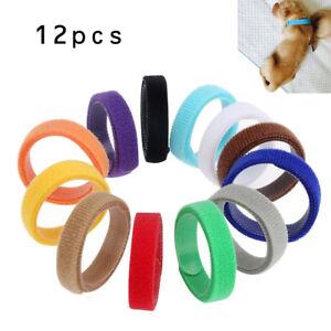 12 Colors Whelp ID Collars Whelping Newborn Puppy & Kitten ID Collar Bands