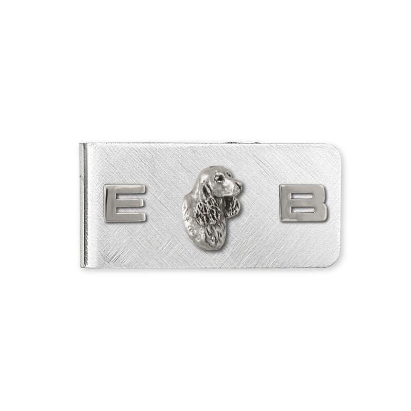 Springer Spaniel Money Clip Jewelry Sterling Silver Handmade Dog Money Clip SS6-