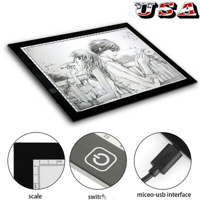 LED Tracing Light Box Board Art Tattoo A3 Drawing Copy Pad Table Stencil Display
