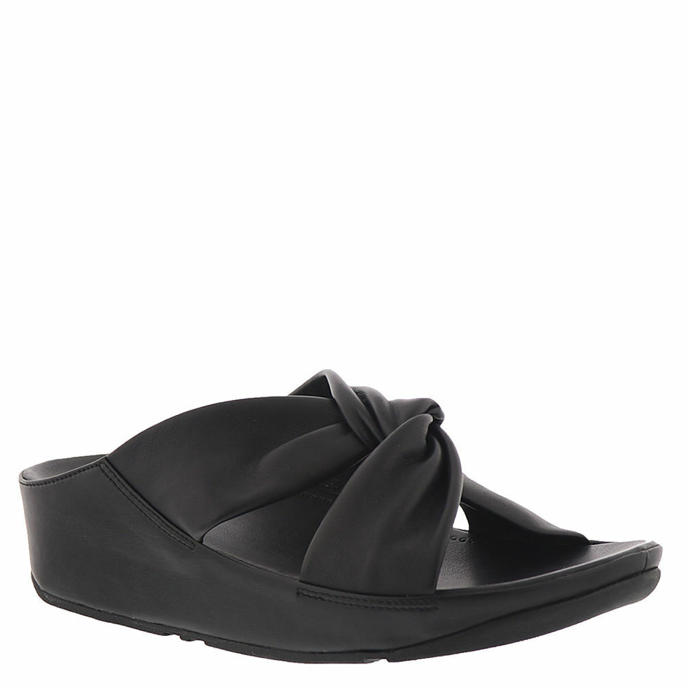 Women's Shoes FitFlop TWISS LEATHER SLIDE Arch Support Sanda