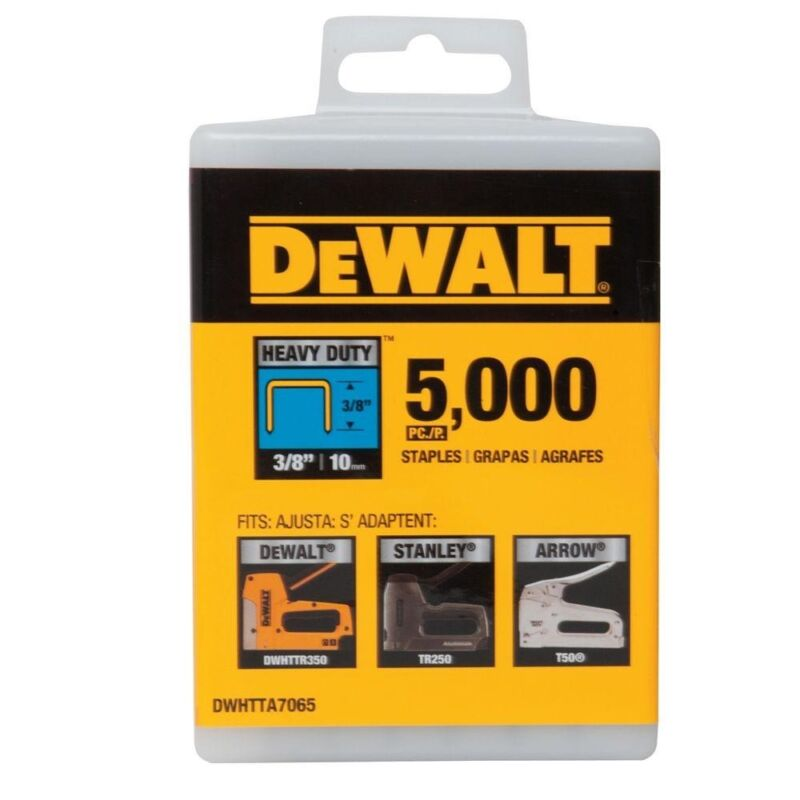 "DEWALT DWHTTA7065 3/8"" Heavy Duty Staples (Pack of 5,000)"
